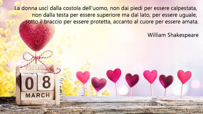 Una cartolina di auguri da condividere per la Festa della Donna - Immagini per la Festa della Donna