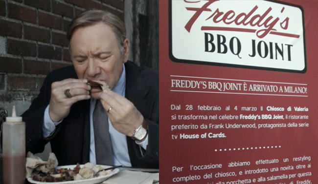 Frank Underwood e le costolette di Freddy