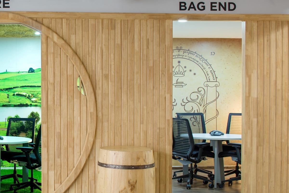 La camera dell' Ufficio a tema Signore degli Anelli chiamata Bag End