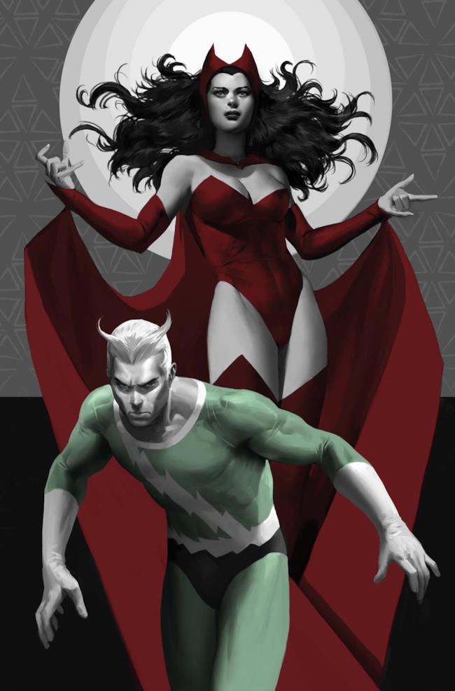 Quicksilver e Scarlet Witch sulla copertina di Avengers Origins