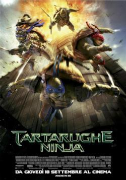 La locandina italiana di Tartarughe Ninja (2014)