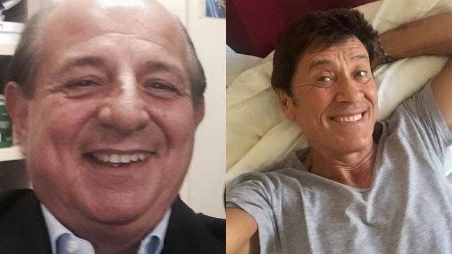 Selfie di Giancarlo Magalli e Gianni Morandi