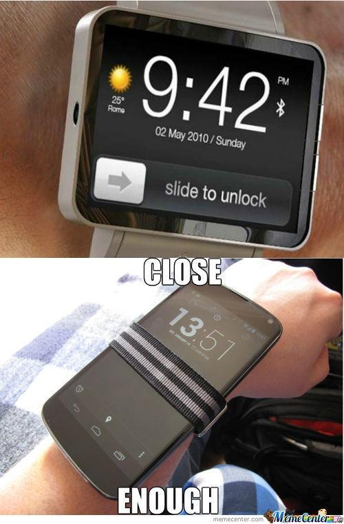 Meme su Apple Watch e Android