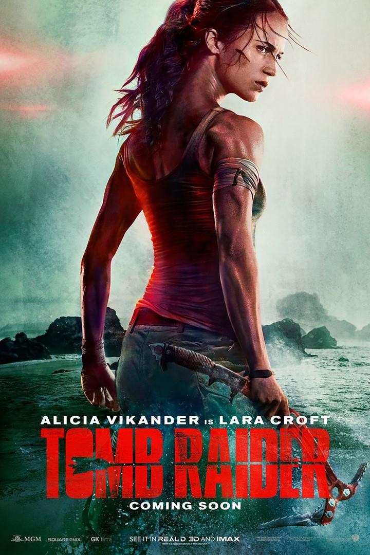 Il poster ufficiale di Tomb Raider con Alicia Vikander