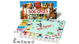 Un'immagine ufficiale di Dogopoly, gioco da tavolo per gli amanti dei cani