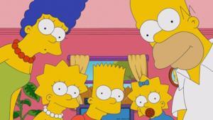 La foto dei componenti della famiglia Simpson