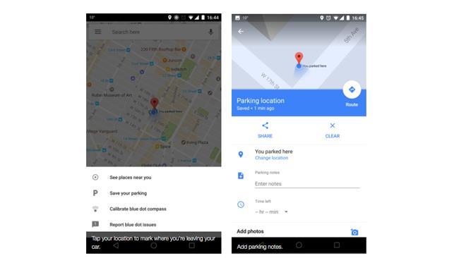 Google Maps, funzione trova auto parcheggiata
