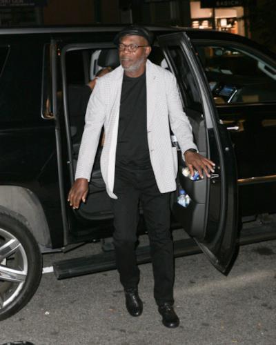 Samuel L. Jackson in abito elegante