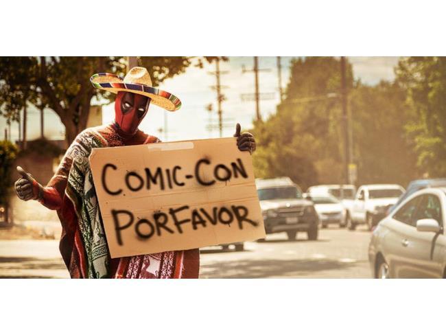 Deadpool si dirige al Comic-Con di San Diego