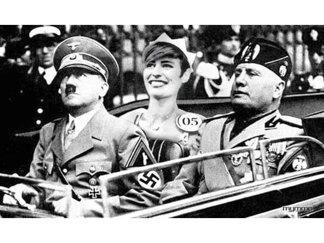 Sfilatta della vittoria di Miss Italia con Hitler e Duce