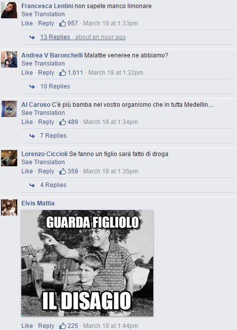 I commenti di Facebook all'annuncio del matrimonio Tommasi/Dipré