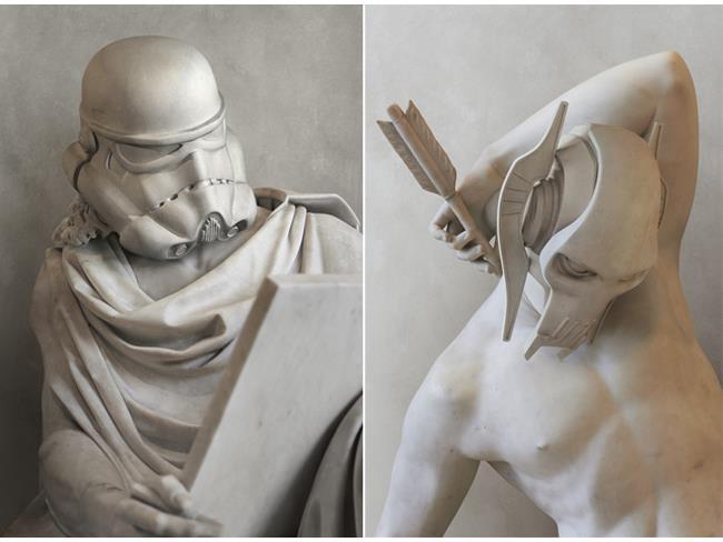 Le sculture di Dtar Wars di Travis Durden