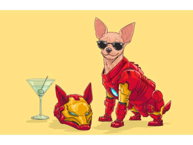 Iron Man in versione canina