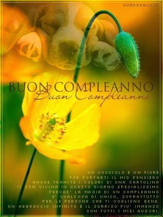Un fiore e una frase di buon compleanno - Fiori, le più belle immagini per il buongiorno, buonanotte e buon compleanno