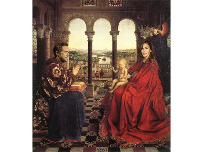 Ryan Gosling e Eva Mendes in la Vergine del cancelliere Rolin