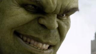 Un frame del gigante verde tratto dal film The Avengers