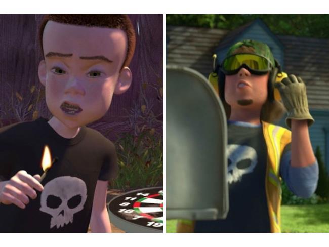 Il teppista presente in Toy Story