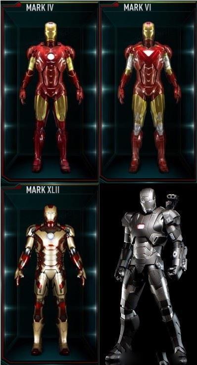 Le armature di Iron Man in vendita