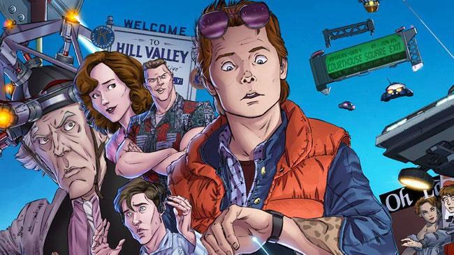 Marty McFly sulla copertina del fumetto di Back to the Future