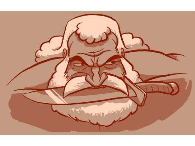 Brock Samson con barba