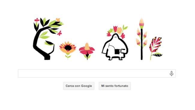 Logo animato di Google dedicato all'equinozio di primavera