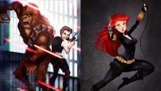 Le principesse Disney diventano personaggi di Star Wars (e altre popolari serie)
