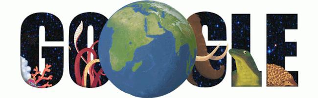 Il logo di Google in occasione della Giornata della Terra 2015