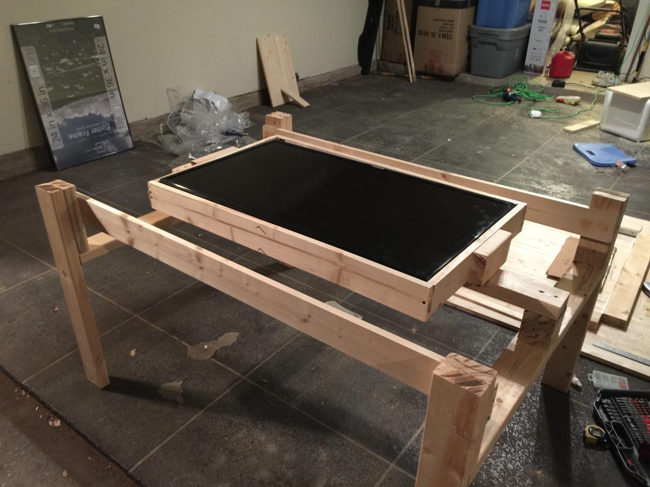 Le fasi di costruzione del tavolo per D&D