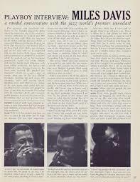 L'intervista di Playboy a Miles Davis