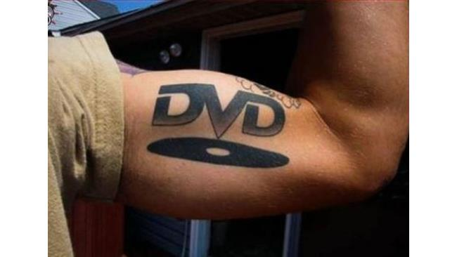 Tatuaggio simbolo DVD