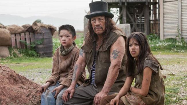 Danny Trejo e gli attori di Bullet of Justice