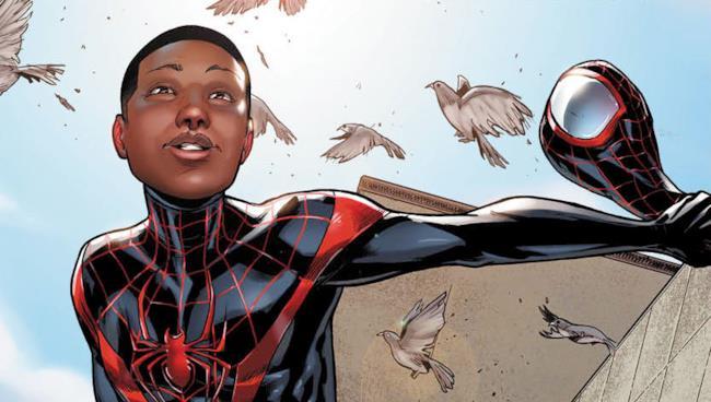 Miles Morales sulla copertina dei fumetti