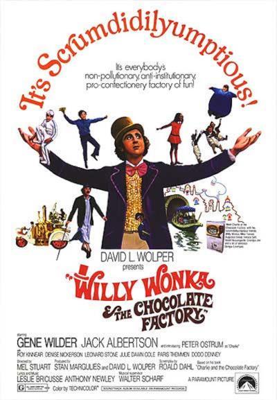 La locandina de Willy Wonka e la fabbrica di cioccolato