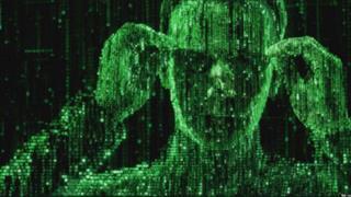 Neo in una scena della saga di Matrix