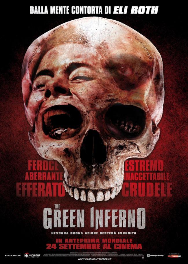 La locandina italiana di The Green Inferno di Eli Roth