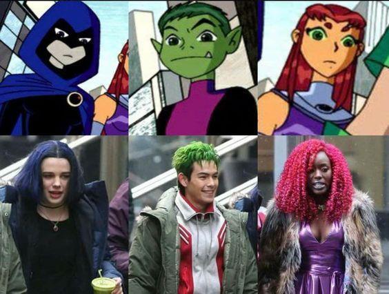 Cast della serie TV Titans.