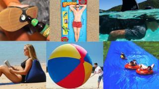 Un collage con i migliori gadget per l'estate 2018