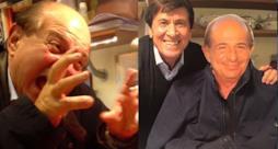 Magalli e la foto di Morandi con il Giancarlo di cartone