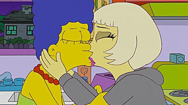 Bacio omosessuale nei Simpson