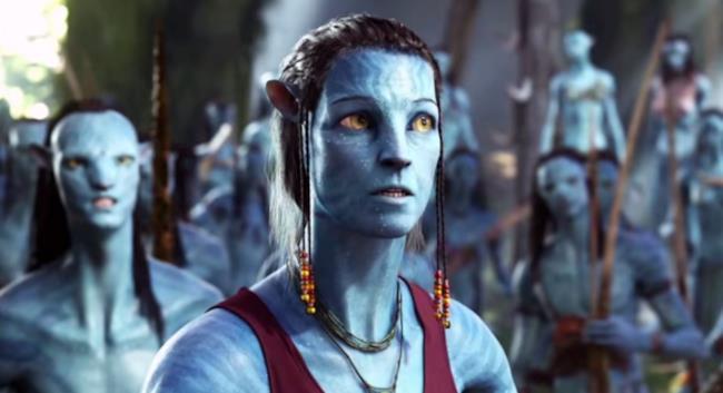 Una scena di Avatar con Sigourney Weaver