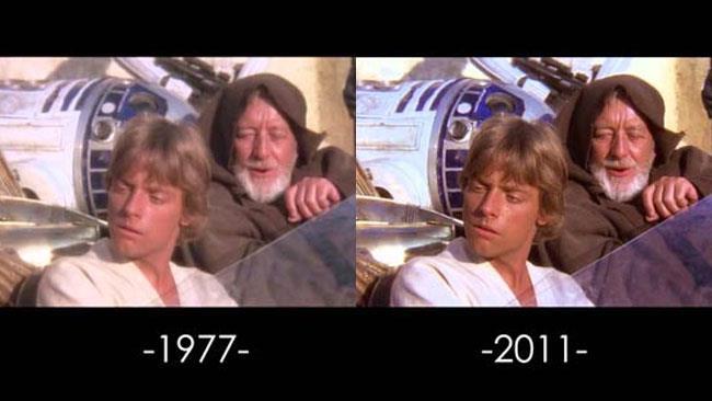 Una scena di A New Hope di Star Wars