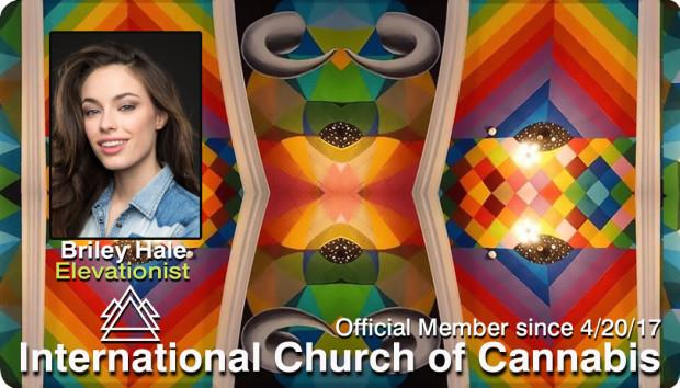 La tessera di appartenenza della chiesa della cannabis