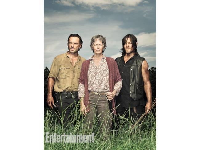 Rick, Carol e Daryl su EW