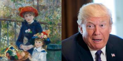Trump e il suo quadro di Renoir fasullo