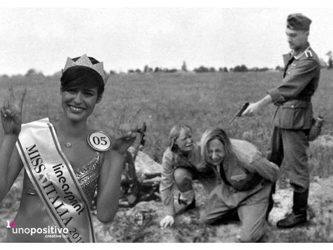 Foto Ricordo con Miss Italia nella Seconda Guerra Mondiale