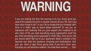 Le avvertenze del film Fight Club