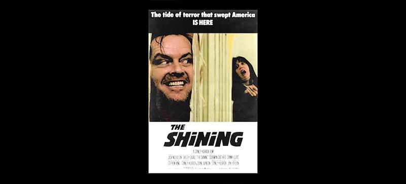 Poster filmThe Shining animato da Pablo Fernandez Eyre