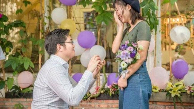 La foto della proposta di matrimonio