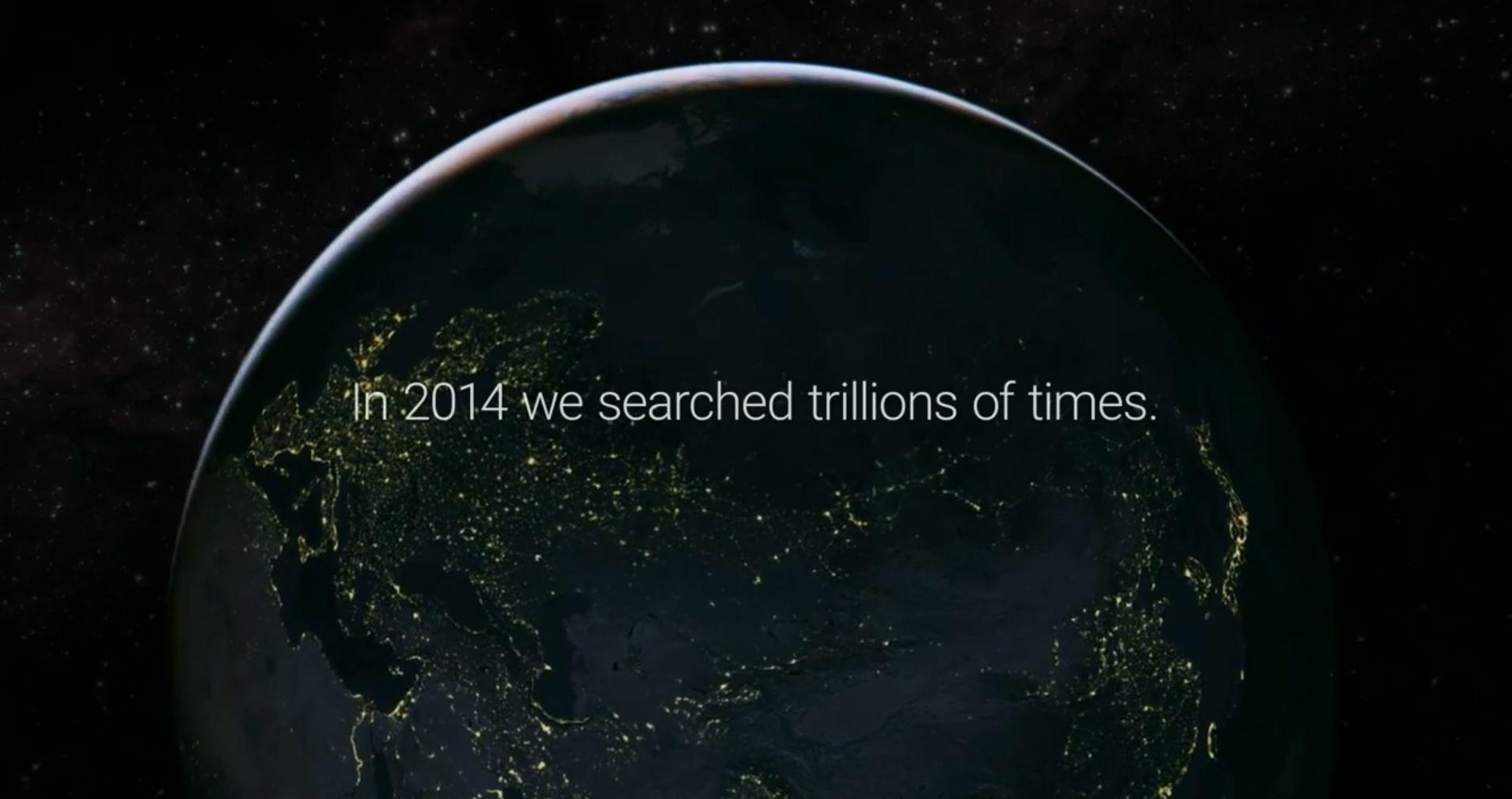 Schermata iniziale del video un anno di ricerche 2014