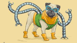 Doctor Octopus in versione canina